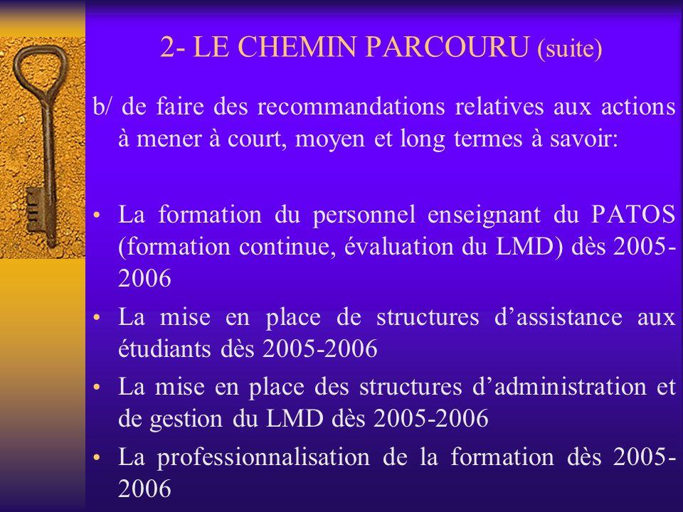 2- LE CHEMIN PARCOURU 2. 1- Le séminaire inter-universitaire de Lomé des 10, 11, 12 octobre 2005 Ce séminaire: événement fondamental a permis a/ de ti