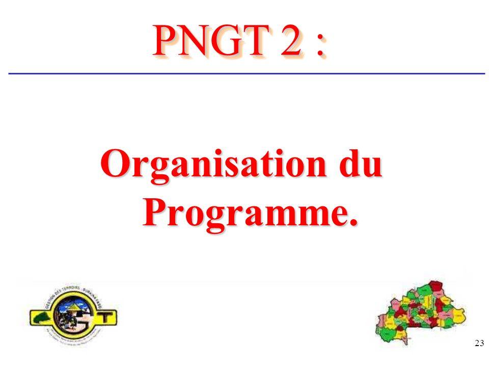 23 Organisation du Programme. PNGT 2 :