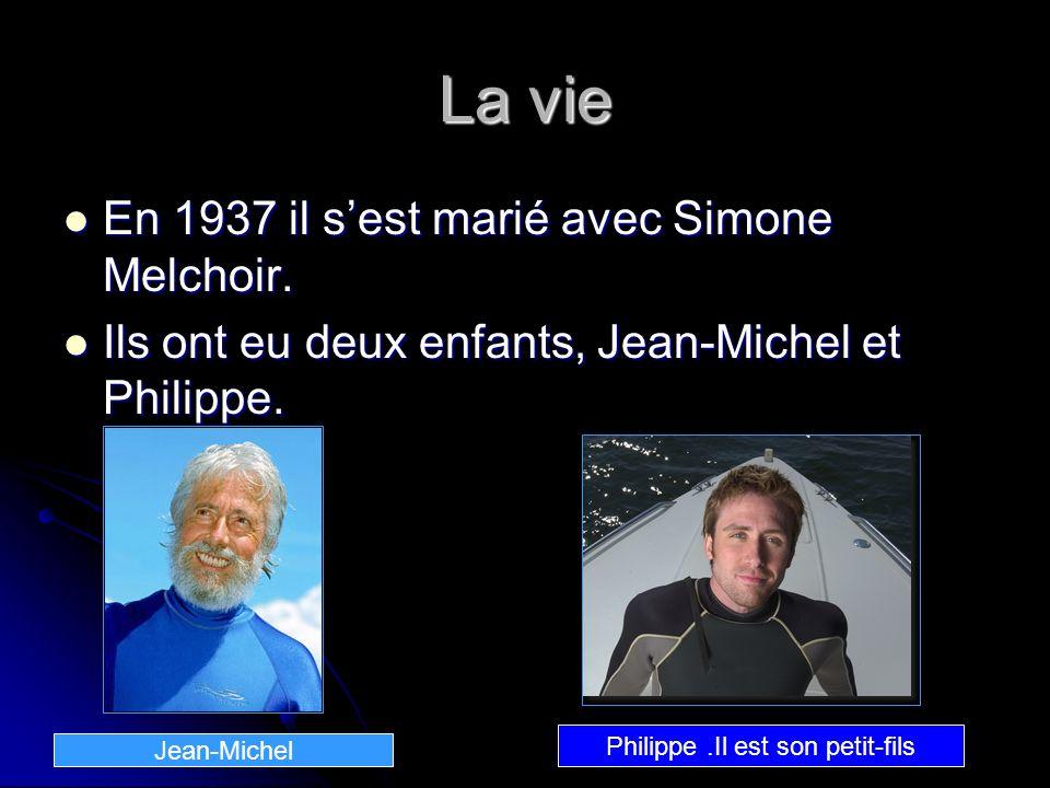 La vie En 1937 il sest marié avec Simone Melchoir. En 1937 il sest marié avec Simone Melchoir. Ils ont eu deux enfants, Jean-Michel et Philippe. Ils o