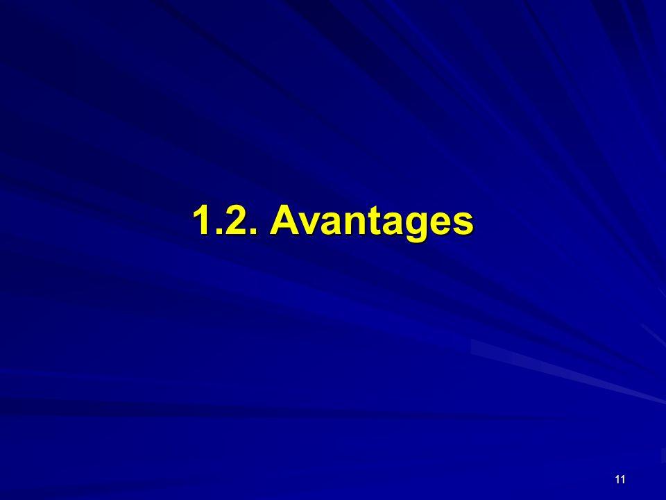11 1.2. Avantages