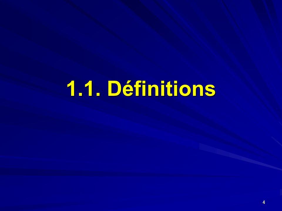 4 1.1. Définitions