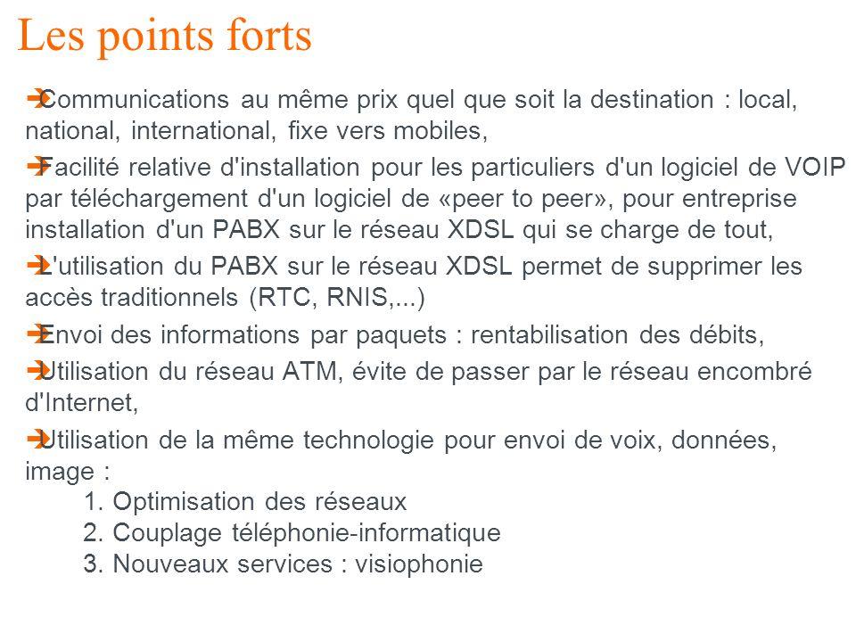 24 La VoIP et la TV Num Les points forts Communications au même prix quel que soit la destination : local, national, international, fixe vers mobiles,
