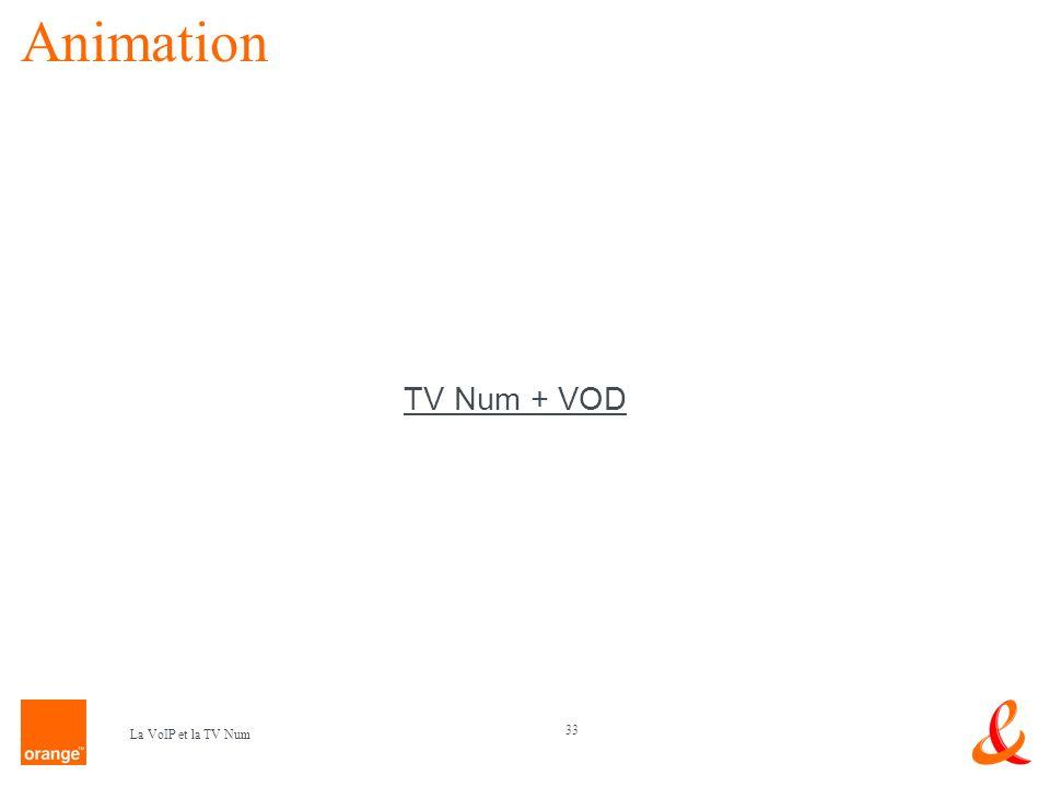 33 La VoIP et la TV Num Animation TV Num + VOD