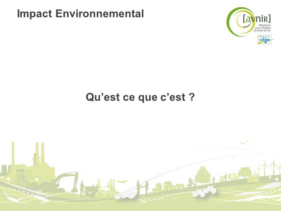 Impact Environnemental Quest ce que cest ?