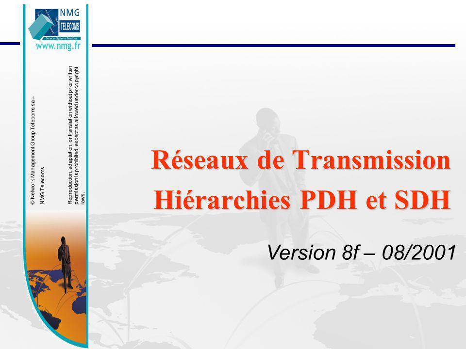 23/01/2014Formation Générique Réseaux de Transmission PDH/SDH 12 SDH: Multiplexage synchrône En février 1988 à Séoul (Corée) les accords internationaux ont abouti à la première série de recommandations relatives à la nouvelle hiérarchie numérique synchrone SDH (Synchronous Digital Hierachy).