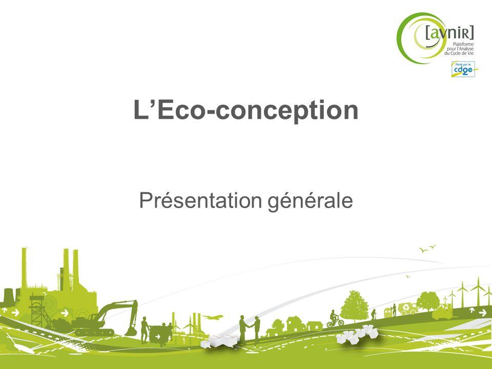 LEco-conception Présentation générale