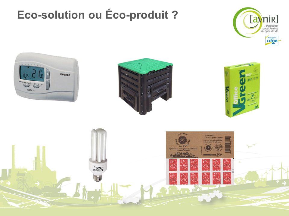 Objectif principal Améliorer la qualité écologique dun produit, cest-à-dire réduire ses impacts négatifs tout au long de son cycle de vie tout en conservant sa qualité dusage.