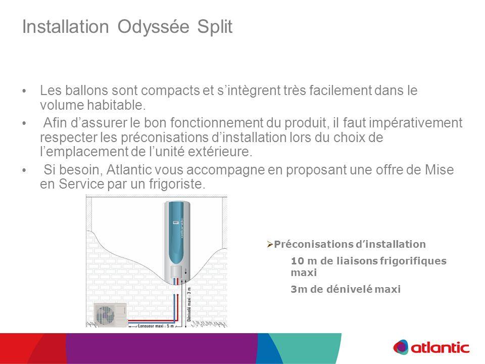 Installation Odyssée Split Les ballons sont compacts et sintègrent très facilement dans le volume habitable. Afin dassurer le bon fonctionnement du pr