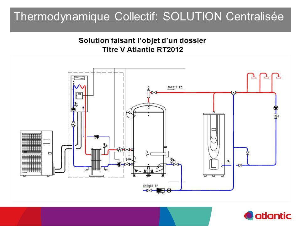 Thermodynamique Collectif: SOLUTION Centralisée ou Solution faisant lobjet dun dossier Titre V Atlantic RT2012