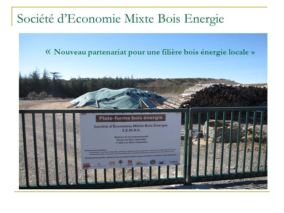Société dEconomie Mixte Bois Energie « Nouveau partenariat pour une filière bois énergie locale »