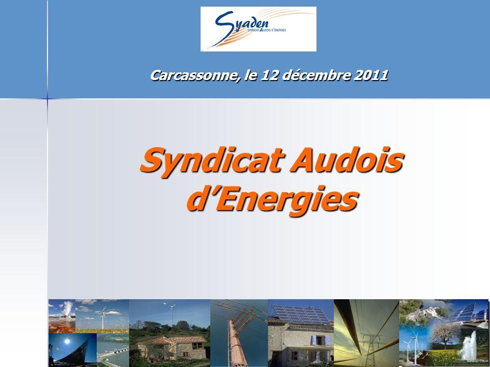 Syndicat Audois dEnergies Carcassonne, le 12 décembre 2011