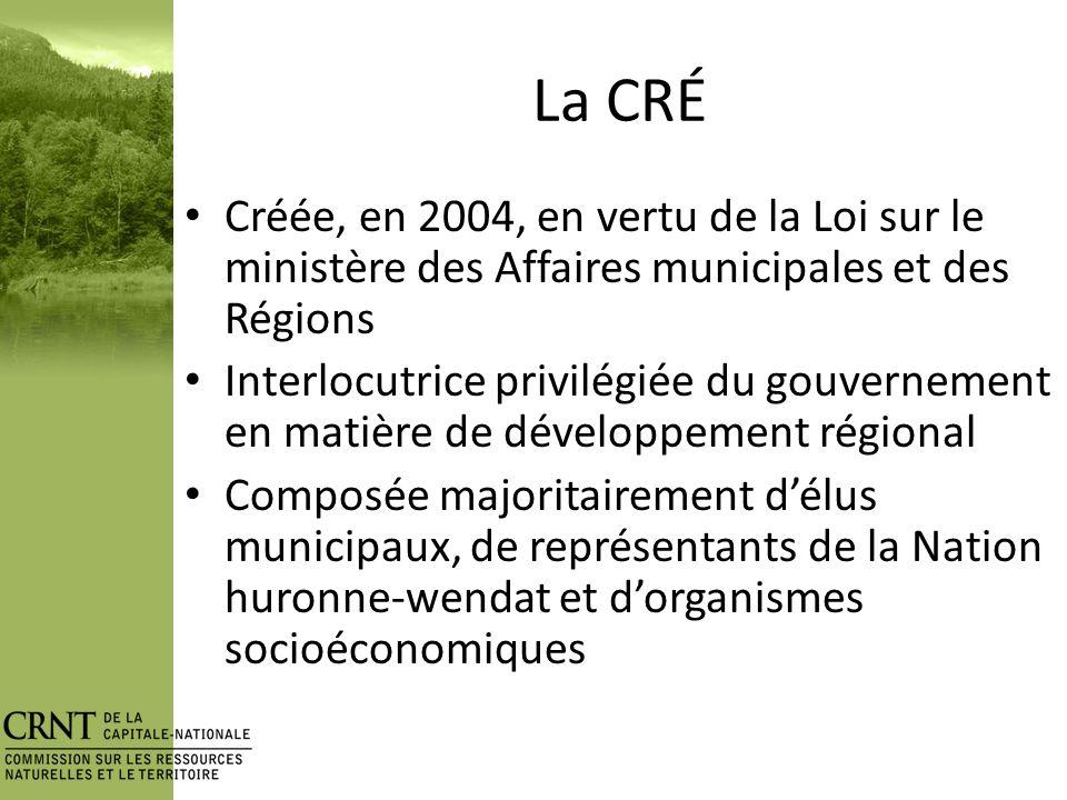 Le territoire Densité: 34 hab/km 2 4 e au Québec (Mtl, Laval, Montérégie) 87% forestier 65% public >90% TFS