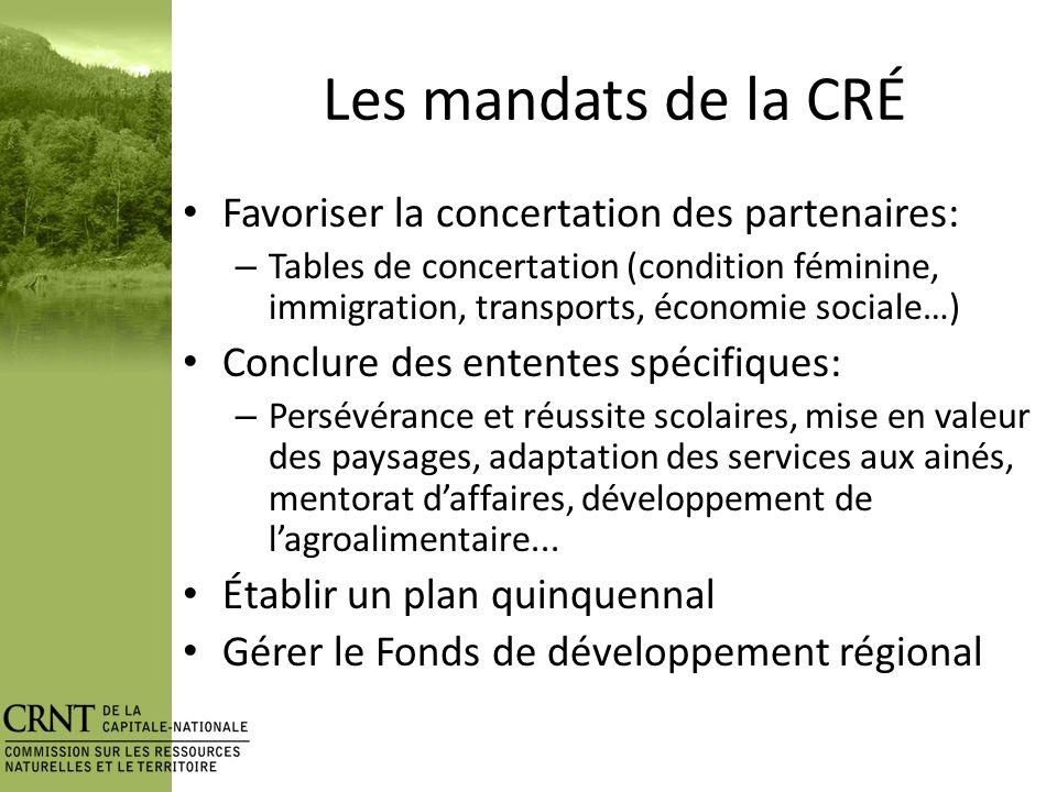 Origine de la CRNT Table Forêt (2003) Rapport Coulombe (2004) – 7.3Que les CRÉ soient désignées comme étant les interlocutrices politique régionales responsables de la mise en place des CFR, de lapprobation des PRDF et de lapprobation des projets de sylviculture intensive et de forêt habitée.