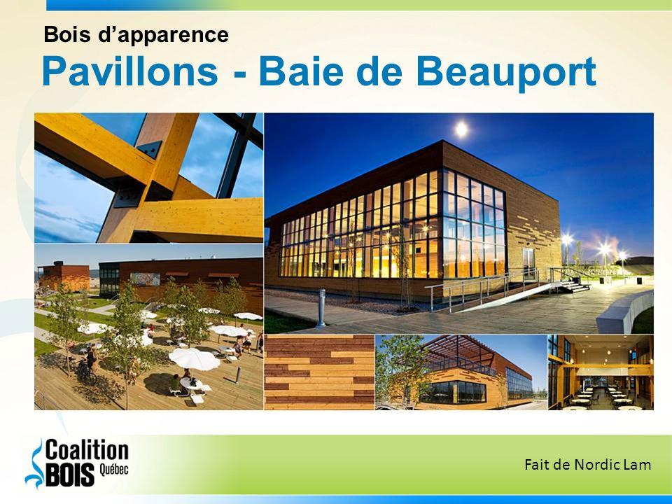 Pavillons - Baie de Beauport Bois dapparence Fait de Nordic Lam