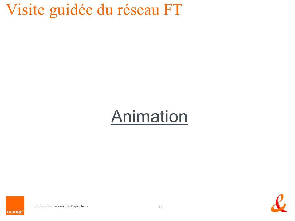 19 Introduction au réseaux dopérateurs Visite guidée du réseau FT Animation