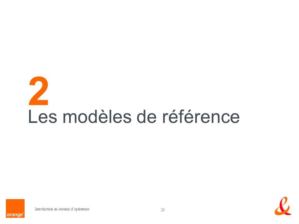 20 Introduction au réseaux dopérateurs Les modèles de référence 2