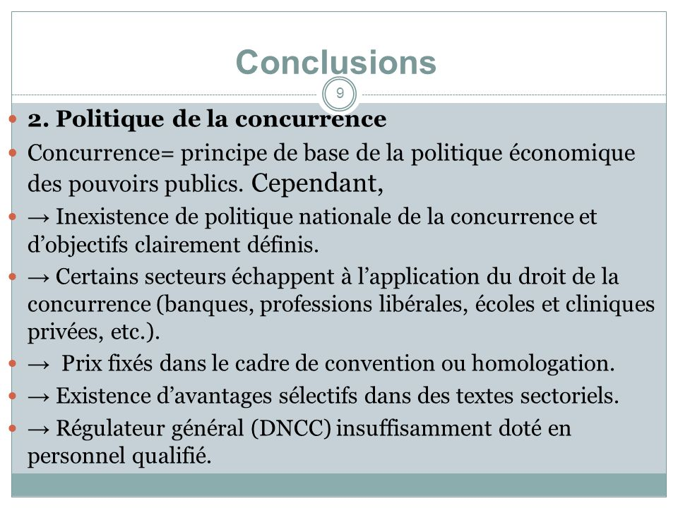 Conclusions 2.