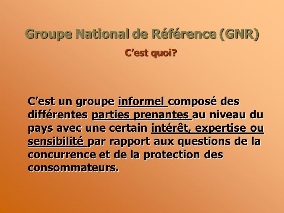 Groupe National de Référence (GNR) Cest quoi.