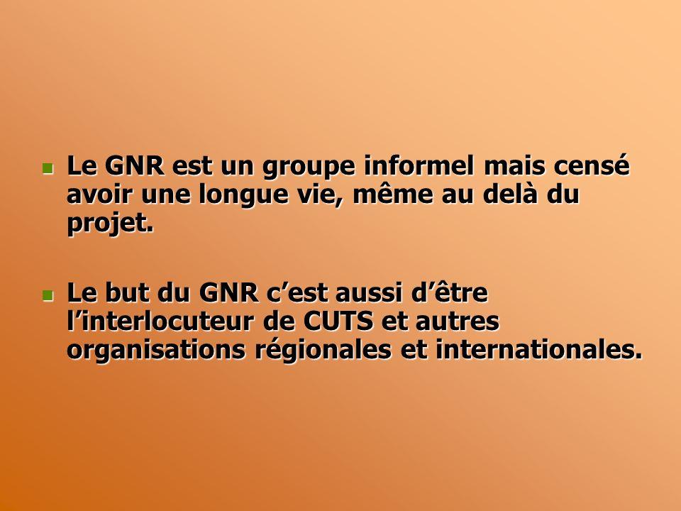 Le GNR est un groupe informel mais censé avoir une longue vie, même au delà du projet.