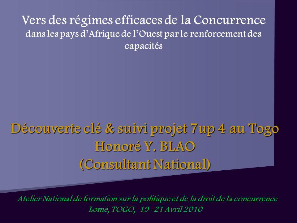Découverte clé & suivi projet 7up 4 au Togo Honoré Y.