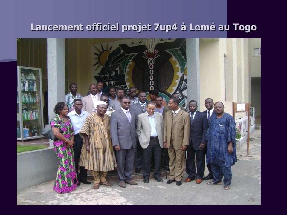 Lancement officiel projet 7up4 à Lomé au Togo