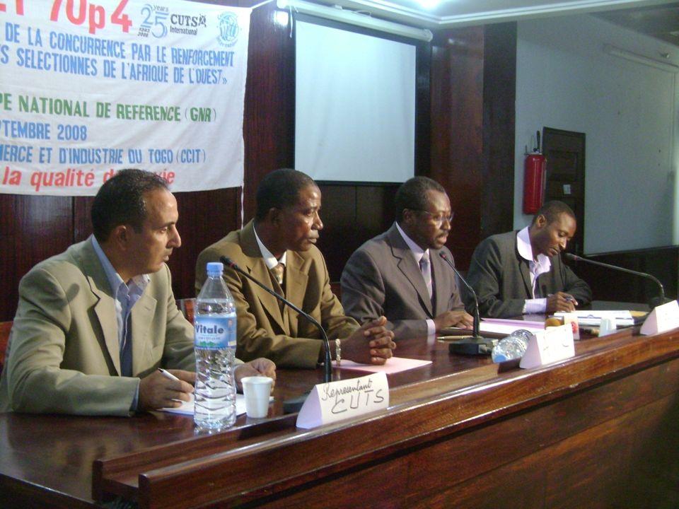 Poursuite des activités de recherche et finalisation : -Recherches complémentaires et finalisation du DDP- Togo --Production et diffusion dun article sur laccès difficile aux services essentiels au Togo ( eau, énergie et télécommunications)