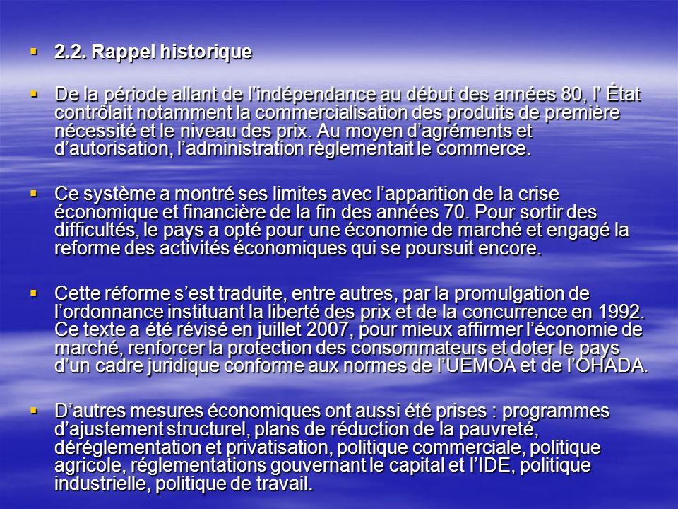 2.2.Rappel historique 2.2.