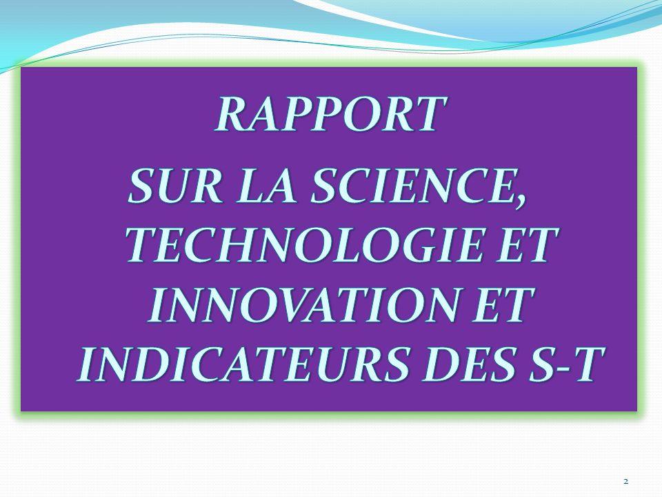 Atelier de renforcement des capacités nationales dans les domaines de la science, de la technologie et de linnovation (STI) et des statistiques et ind