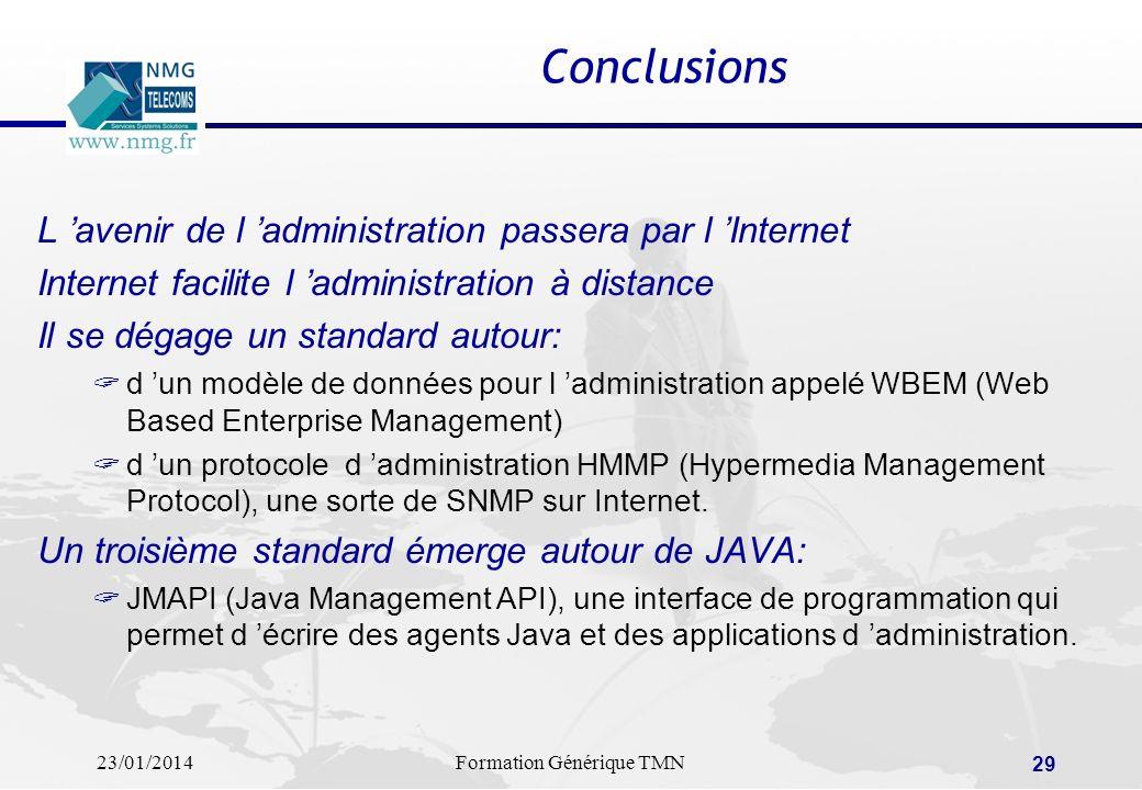 23/01/2014Formation Générique TMN 28 La sécurité dans les réseaux: le marché Le marché français de la sécurité des réseaux d entreprise est appelé à t