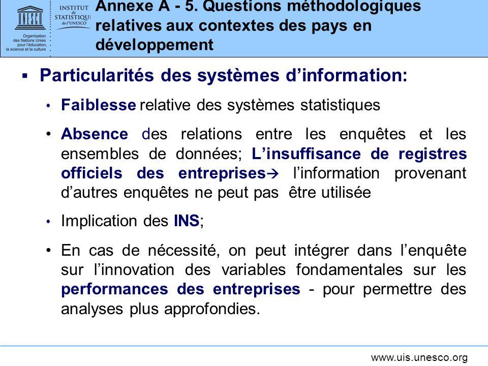 www.uis.unesco.org Annexe A - 5.