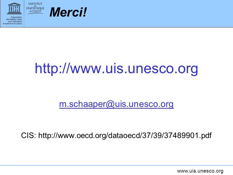 www.uis.unesco.org Merci.