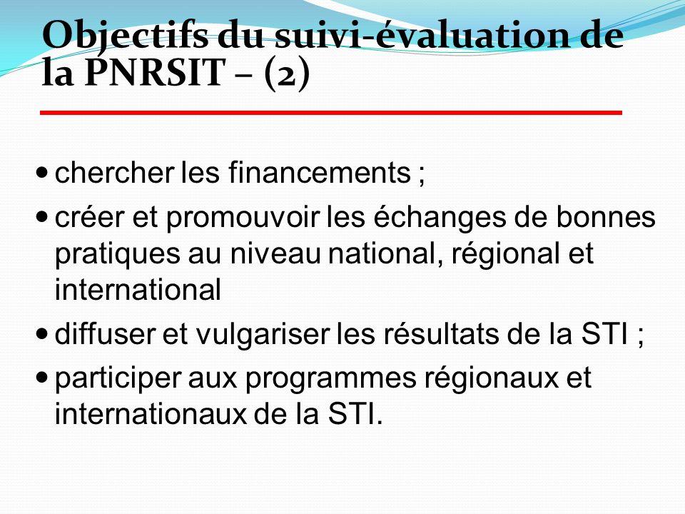 chercher les financements ; créer et promouvoir les échanges de bonnes pratiques au niveau national, régional et international diffuser et vulgariser