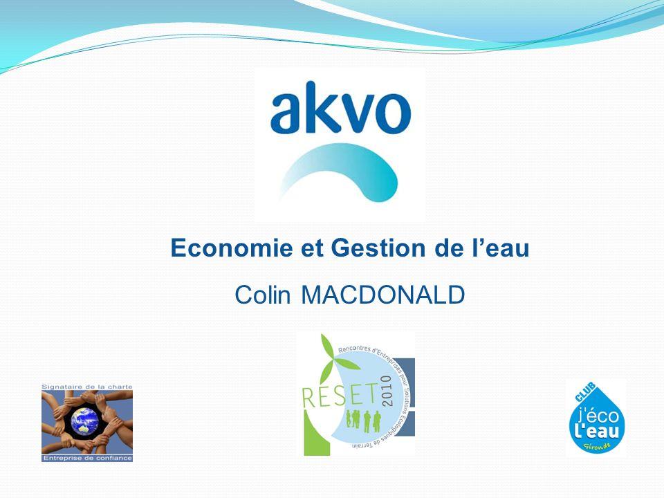 Economie et Gestion de leau Colin MACDONALD