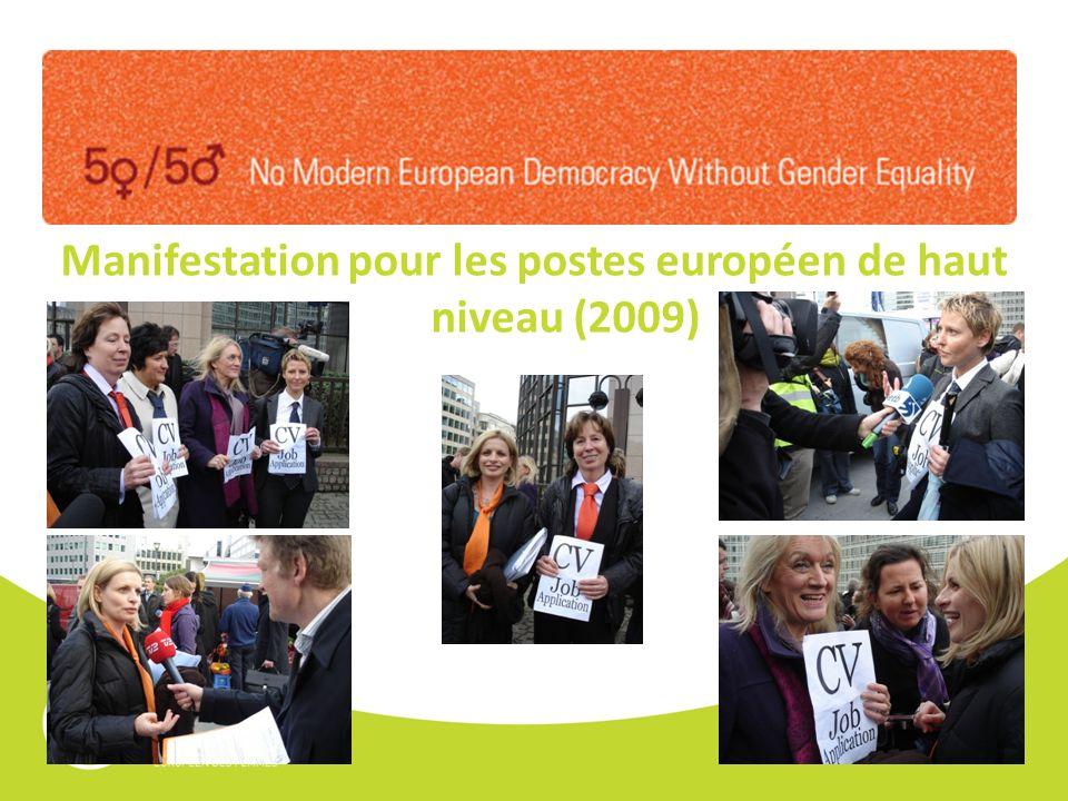 Manifestation pour les postes européen de haut niveau (2009)
