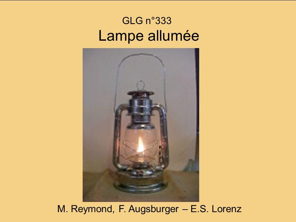 GLG n°333 Lampe allumée M. Reymond, F. Augsburger – E.S. Lorenz