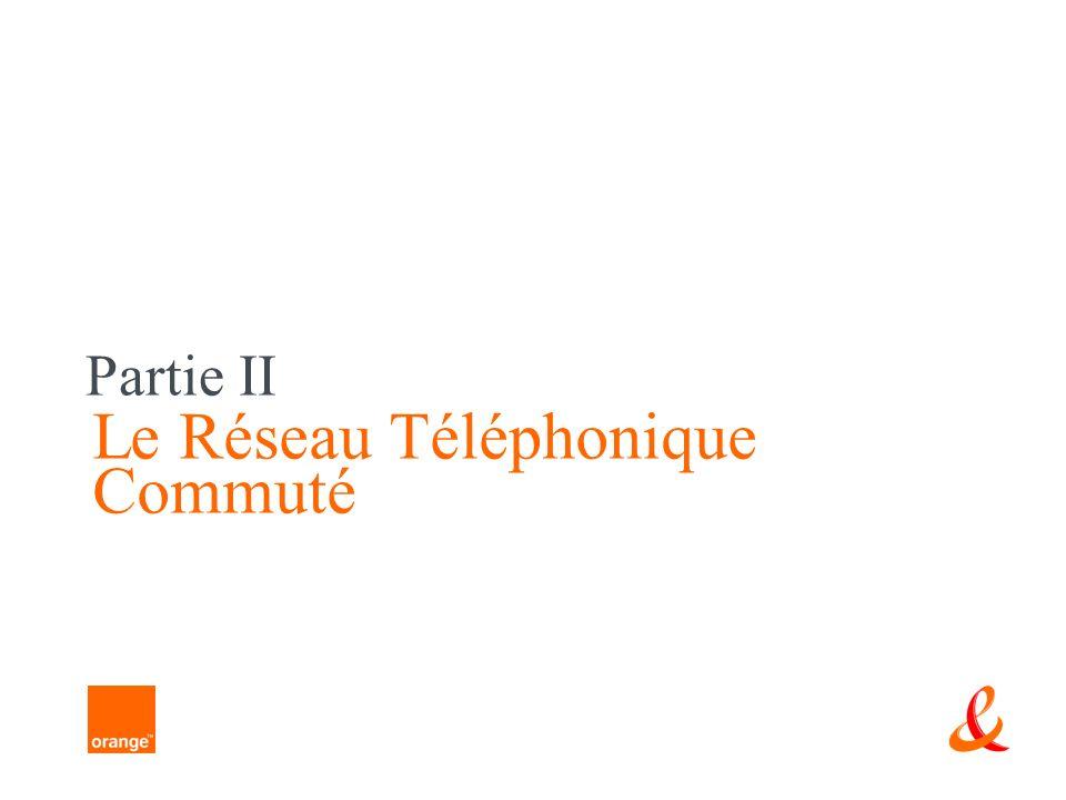 Partie II Le Réseau Téléphonique Commuté