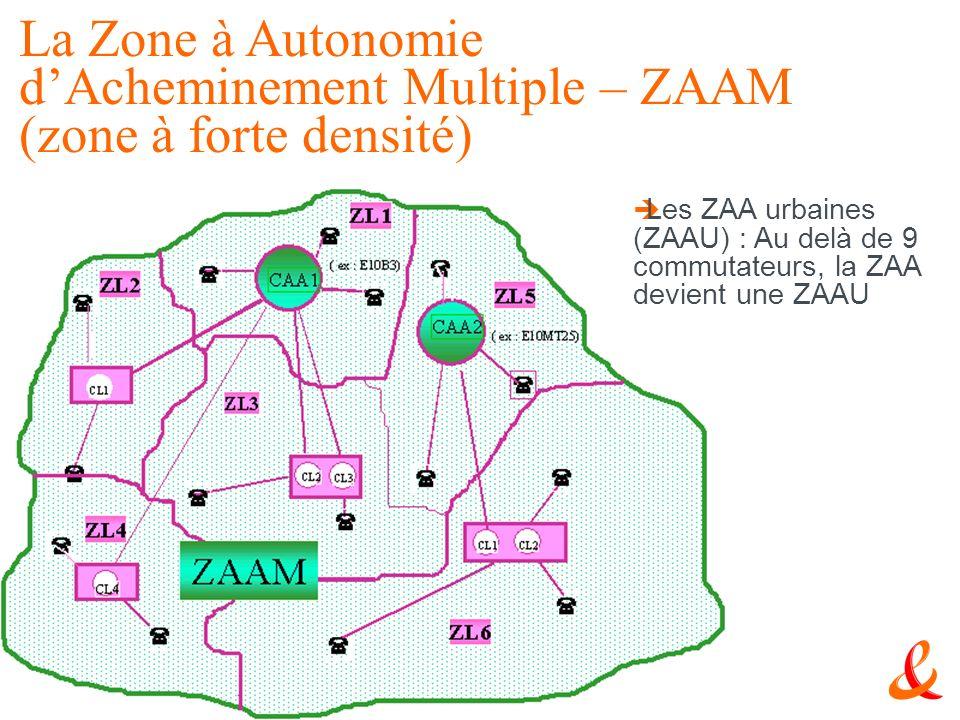 17 Le RTC Les ZAA urbaines (ZAAU) : Au delà de 9 commutateurs, la ZAA devient une ZAAU La Zone à Autonomie dAcheminement Multiple – ZAAM (zone à forte