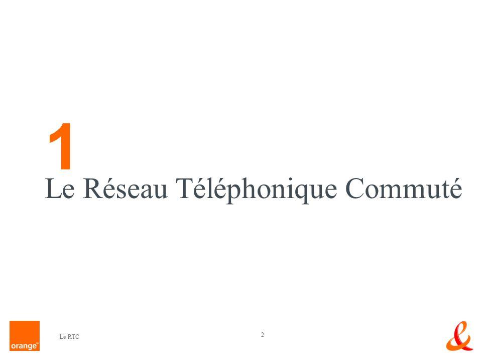 2 Le RTC Le Réseau Téléphonique Commuté 1