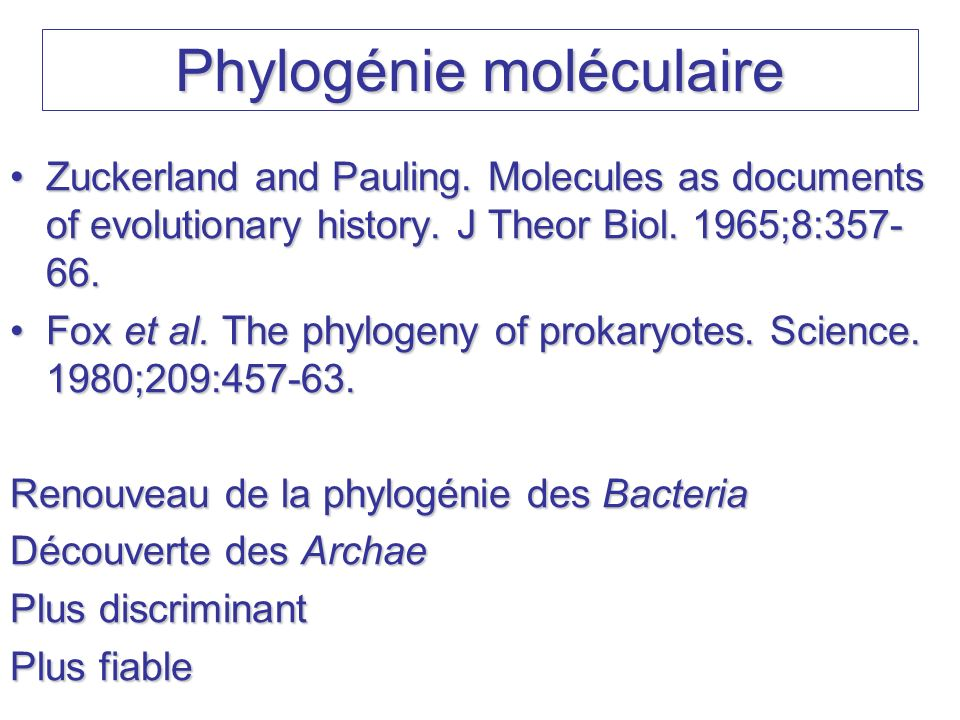 Zuckerland and Pauling. Molecules as documents of evolutionary history. J Theor Biol. 1965;8:357- 66.Zuckerland and Pauling. Molecules as documents of