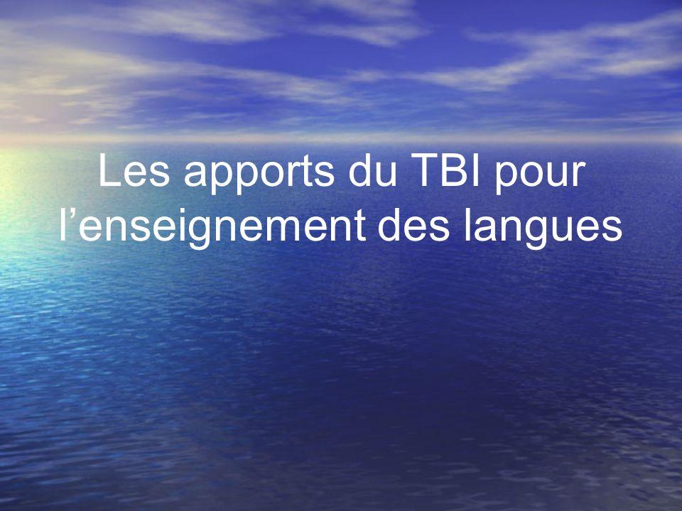 Les apports du TBI pour lenseignement des langues