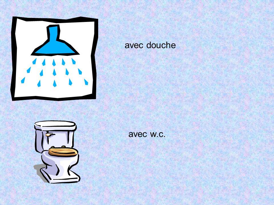 avec douche avec w.c.