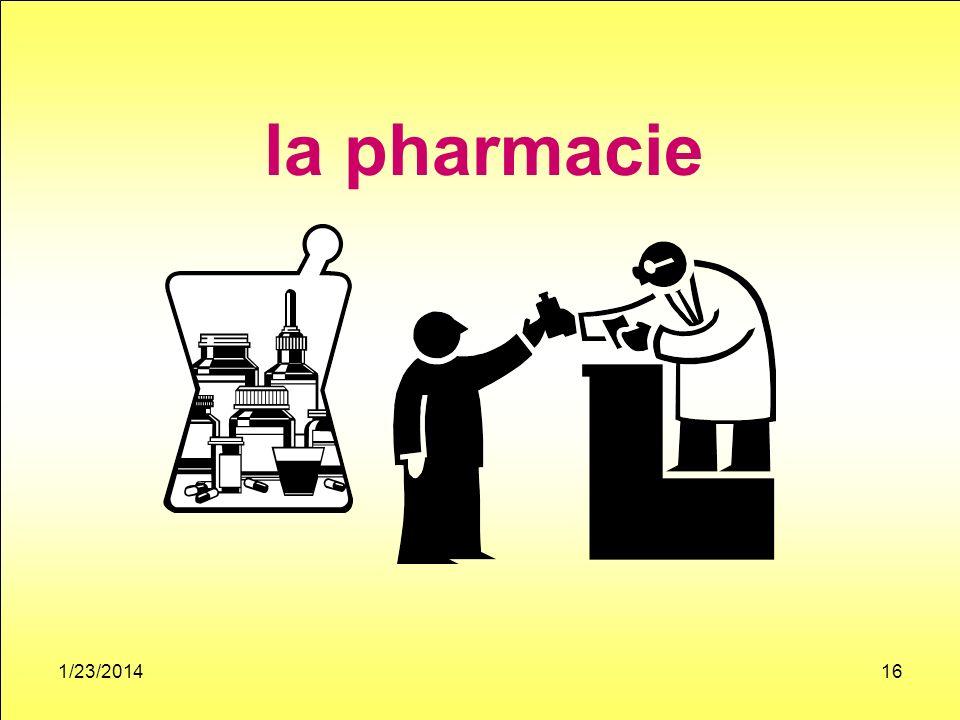 1/23/201416 la pharmacie
