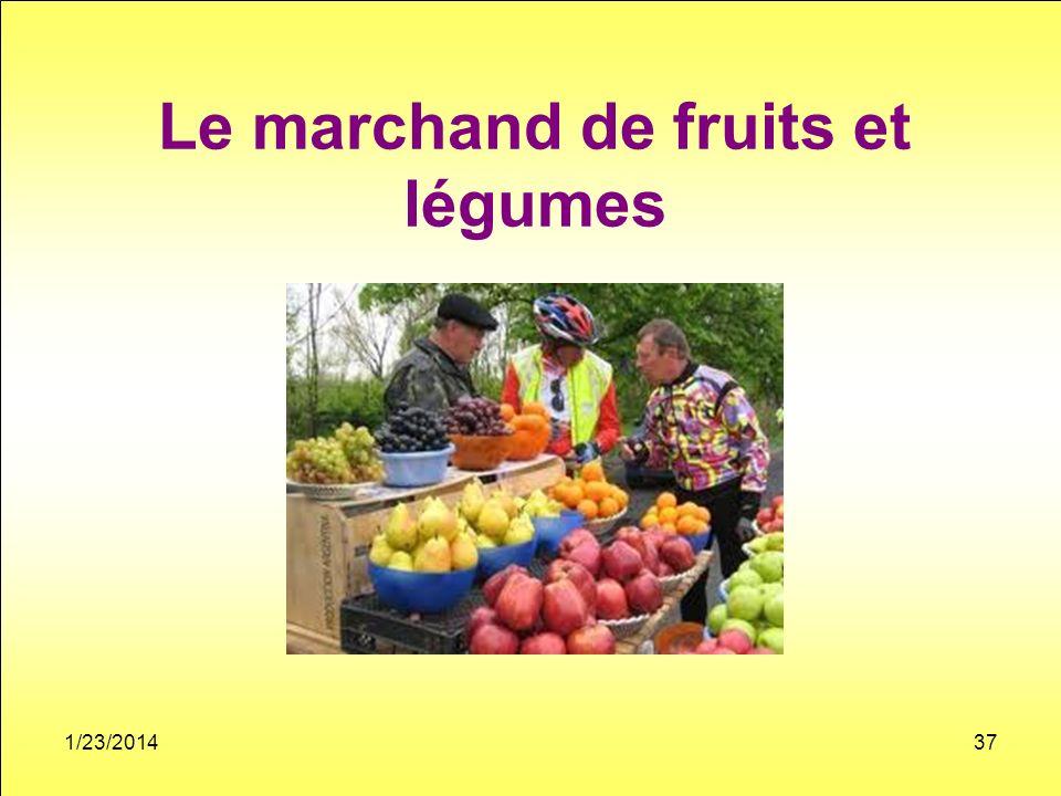 Le marchand de fruits et légumes 1/23/201437