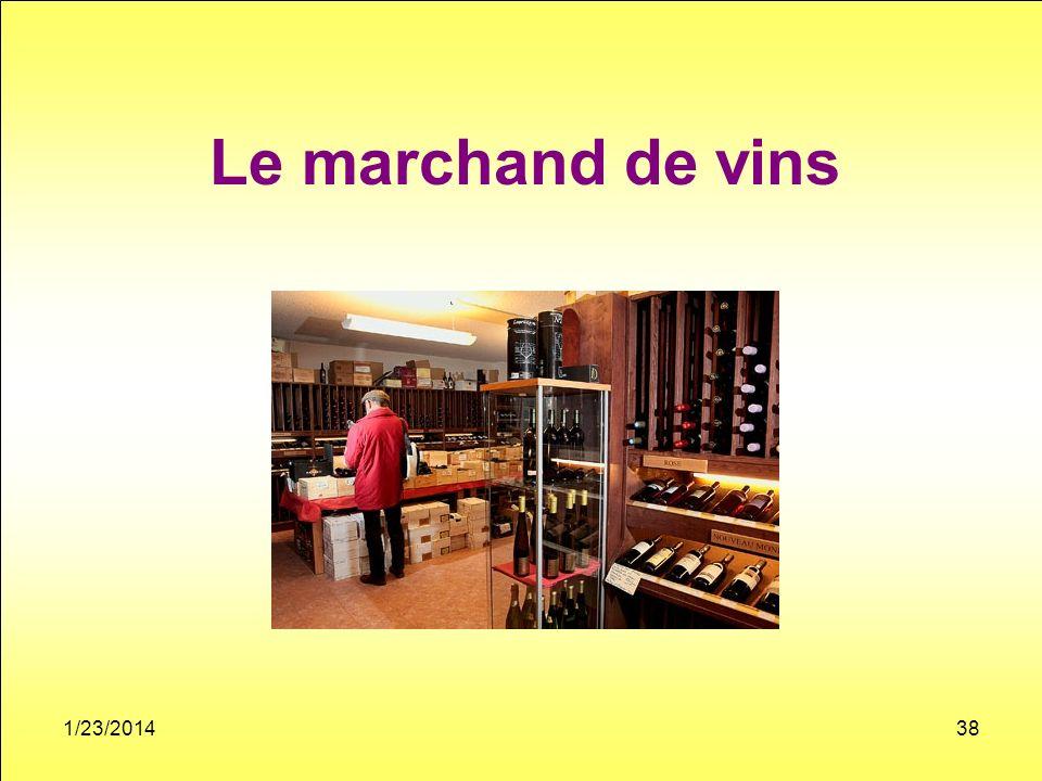 Le marchand de vins 1/23/201438