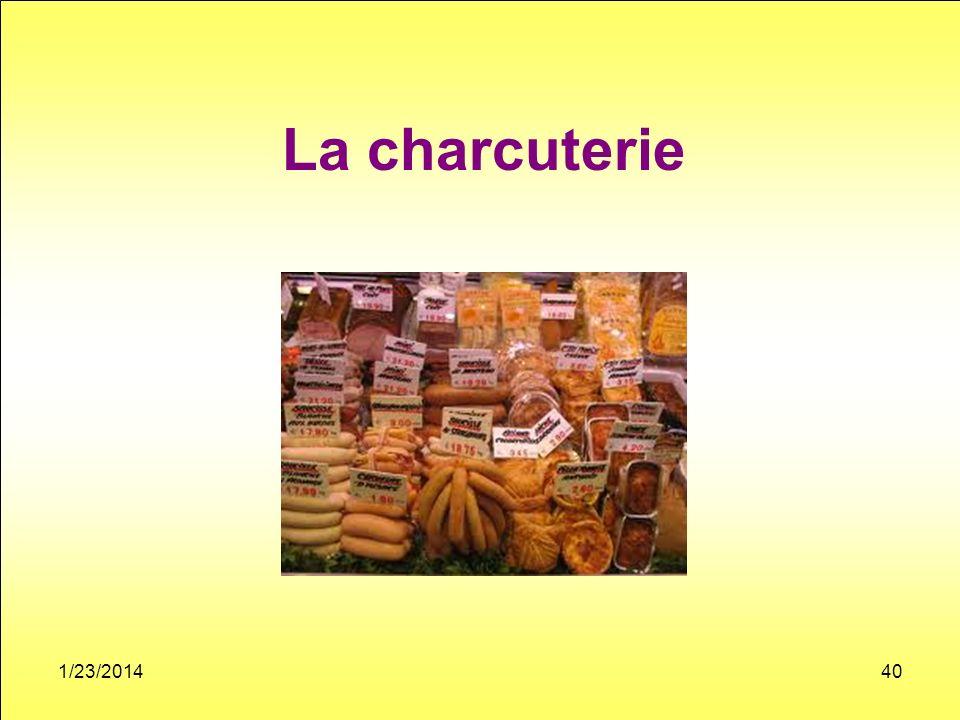 La charcuterie 1/23/201440