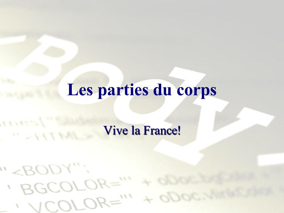 Les parties du corps Vive la France!