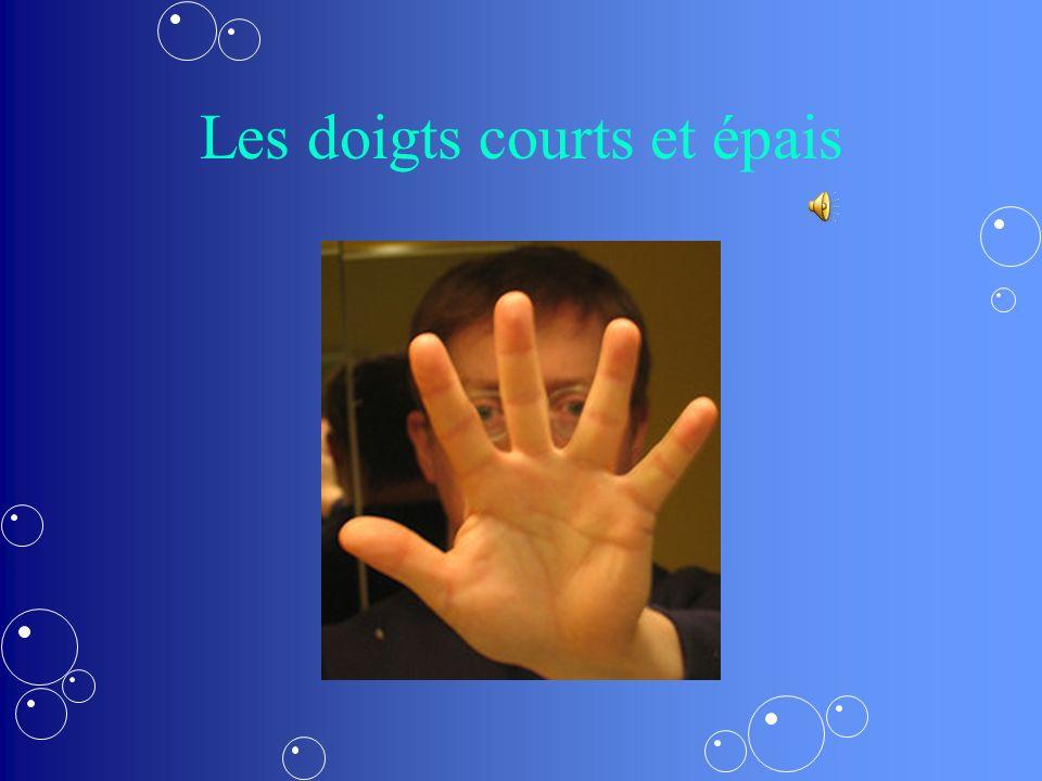 Les doigts longs et fins