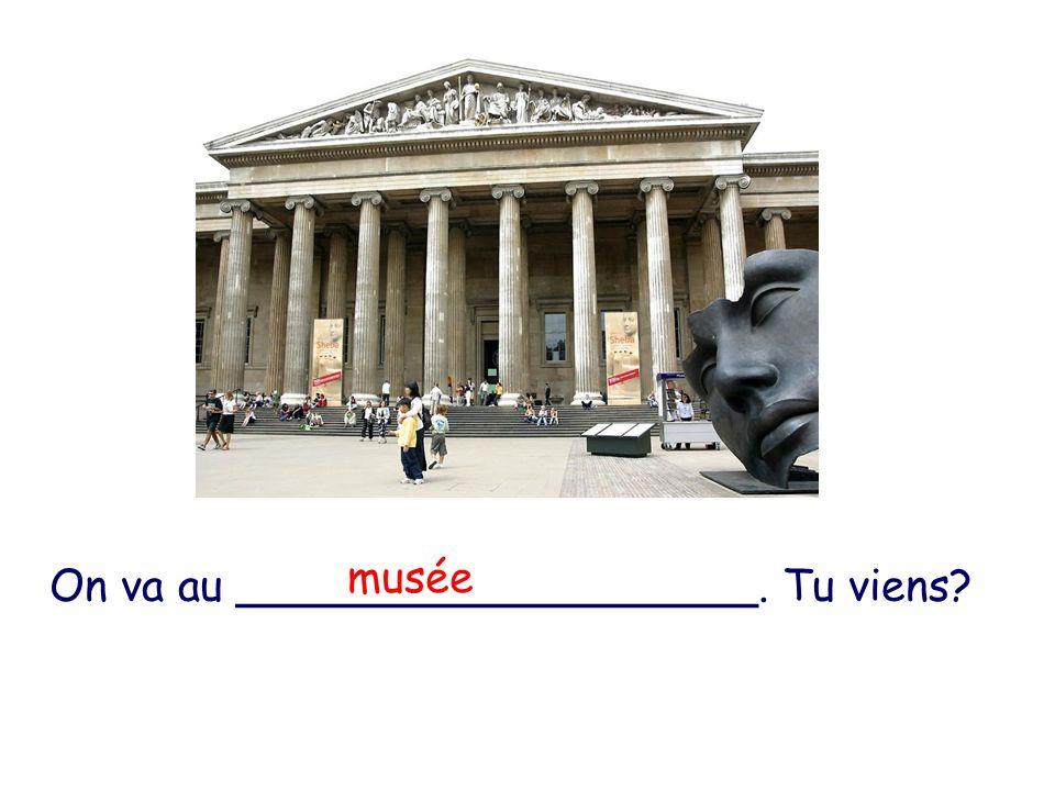 On va au ___________________. Tu viens? musée