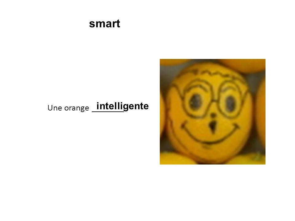 Une orange ________ intelligente smart