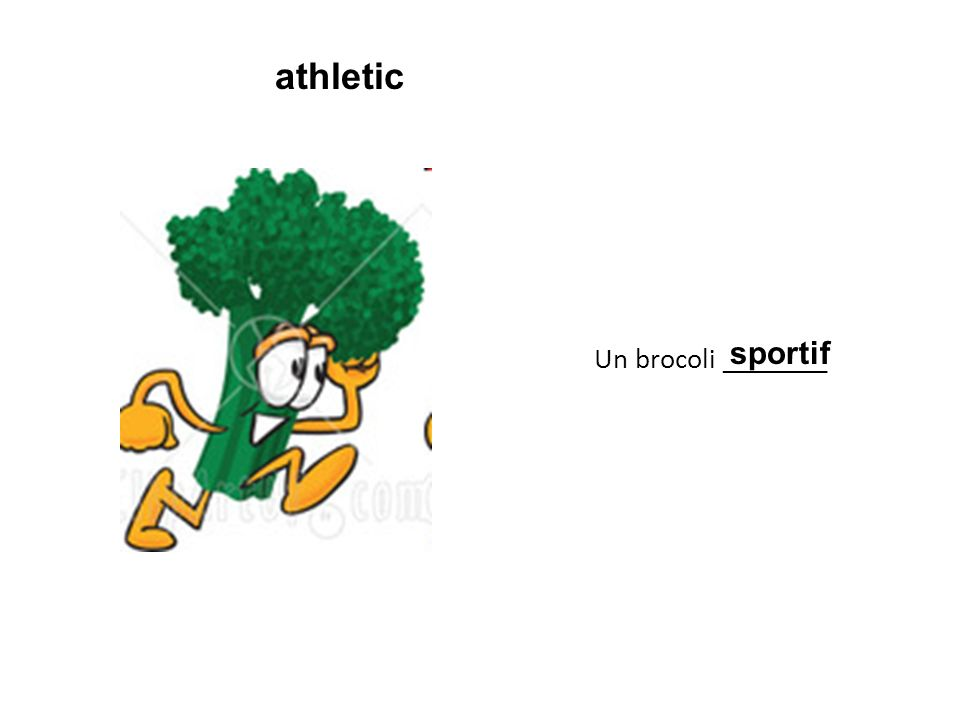 Un brocoli ________ sportif athletic